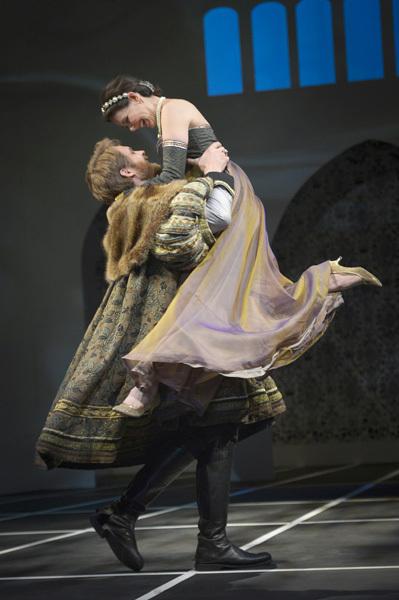 King Henry VIII (Craig Marker) and Anne Boleyn (Liz Sklar)