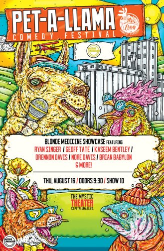 PET-A-LLAMA Festival Poster 2018 Final- Bala Creative BM