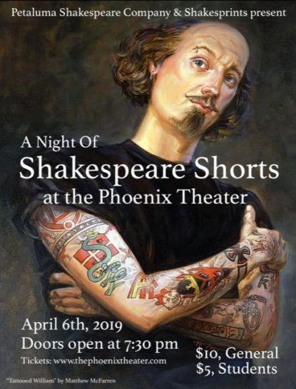 TATTOOED MAN: Shakespeare gets super-cool this weekend at the Phoenix Theater.